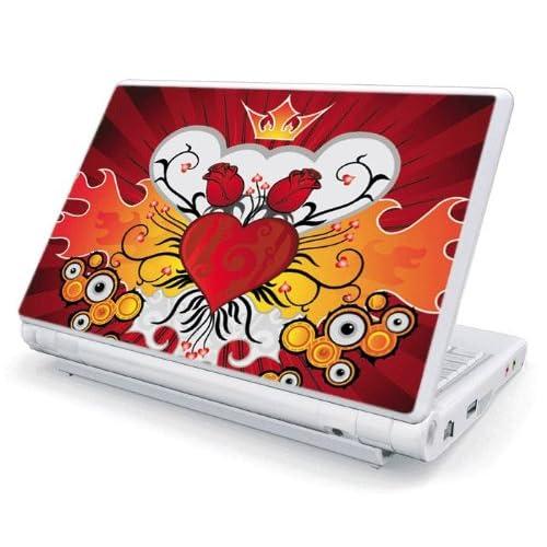 Rose Heart Design Skin Cover Decal Sticker for Acer (Aspire ONE) 10.1 inch KAV10 Netbook Laptop