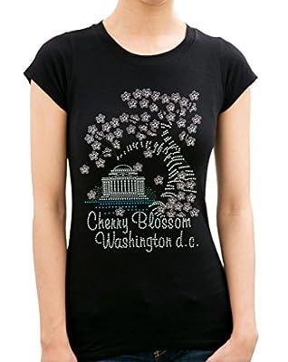Cherry Blossom Washington D.C. Rhinestone/ Stud Women's T shirts