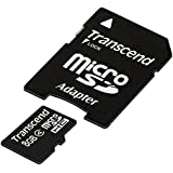 Transcend 8GB Class 4 MicroSDHC Card with Adapter