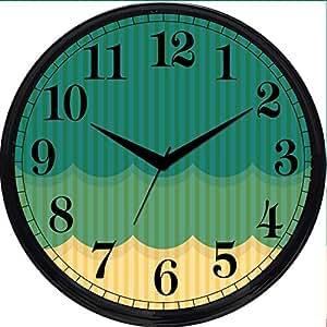 Buy Cartoonpur Round Large Designer Decorative Colourful Wall Clock Ticking 11 Inch Wall Clock