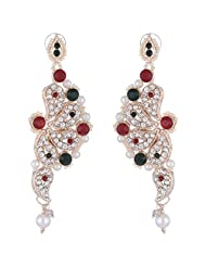 Bel-en-teno Red & Green Alloy Earring Set For Women - B00PY9XRIO