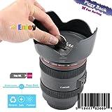 Black Piggy Bank Coin Box Money Box Penny Saving Saver Lens Camera Pen Holder Cup09 Amazing Gift for Children (Color: Black)