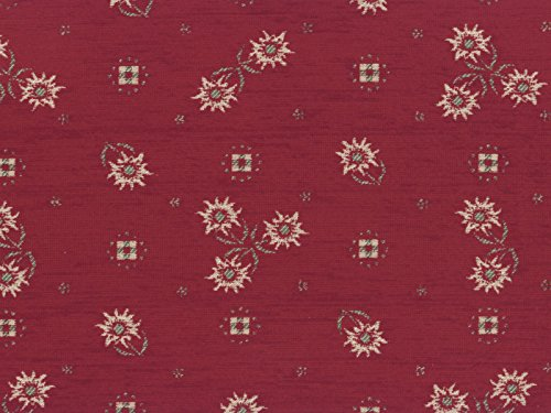 Landhaus-Mbelstoff-Edelweiss-Farbe-56-rot-dunkelrot-bordeaux-mit-biologischem-Fleckschutz-modernes-Chenille-Flachgewebe-gemustert-floral-Blumen-Polsterstoff-Stoff-Bezugsstoff-Eckbank-Couch-Sessel-Huss