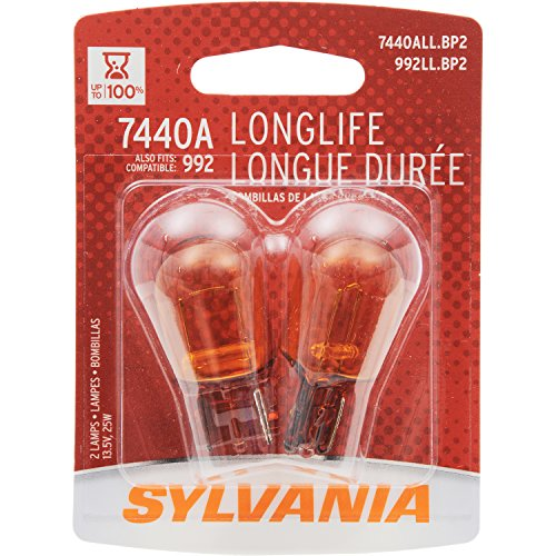 SYLVANIA 7440A Long Life Miniature Bulb, (Pack of 2)