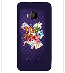 PrintDhaba Quote D-3769 Back Case Cover for HTC ONE M9 (Multi-Coloured)