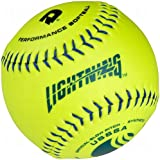 Wilson Lightning Usssa Slow Pitch Synthetic Softballs Wtals12yum-B Dozen