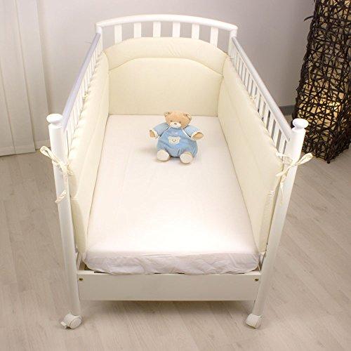 Baby Idea - Paracolpi per lettino bimbo Lati Lunghi Bianco