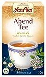 Yogi Tee, Abend-Tee, Ayurvedische Teemischung, Biotee, Teebeutel, Entspannen beim Genuss einer Tasse Tee zum Tagesausklang, 15 Teebeutel, 30g