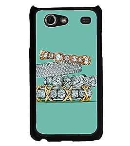 Printvisa Ultra Diamond Rings 2D Hard Polycarbonate Designer Back Case Cover for Samsung I907...