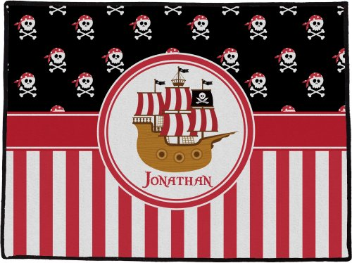"Pirate & Stripes Personalized Door Mat - (36"" X 24"")"