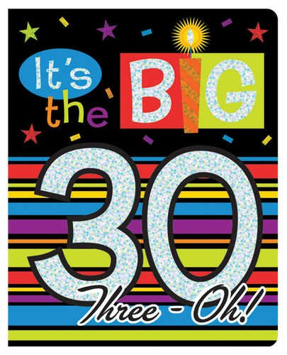 Creative Converting Over The Hill Prismatic Birthday Party Invitations, The Big 30, 8 Count