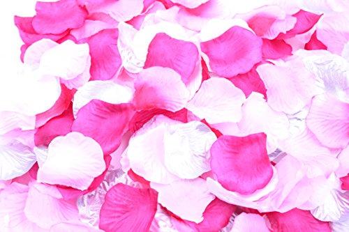 フラワーシャワー 造花 花びら 1200枚セット / ハピネス ウェディング ビューティフル パーティ 【 12バリエーションから選べます 】 (ハピネスブライト / ブリリアント ピンク)