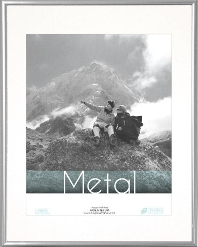 Timeless Frames Metal Silver 12x16 Frame Matted to fit 9x12 Photo ...