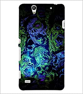 PrintDhaba Abstract Design D-3236 Back Case Cover for SONY XPERIA C4 (Multi-Coloured)