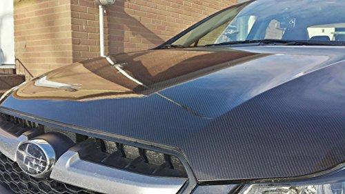 VVIVID® High Gloss Black Carbon Fiber Tech Art 2ft x 5ft 3 layer 3D (not printed) realistic True carbon fiber look cast vinyl wrap for car, boat, bi