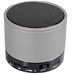 UBON Wireless Bluetooth Speaker With FM & SD Card & Rechargeable Battery Support (BT-20) (Silver)