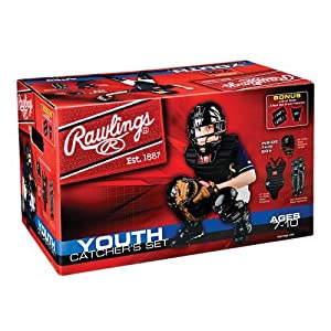 Buy AGES 7-10 Youth Catcher's Equipment Full Set (Mask, Chest Protector, Shin Guards,... by Rawlings Authentic Sports Shop