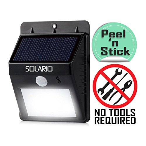 Solario Wireless Motion Activated Solar Powered Security Floodlights - 80 Lumen - Black (Portfolio Replacement Parts compare prices)
