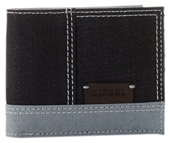 Amazon.com: Diesel DR Side Neela Small Wallet,Dark Navy/Silver