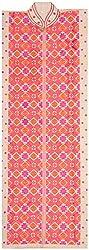The Phulkari Women's Cotton Unstitched Kurti Material (Orange Pink)