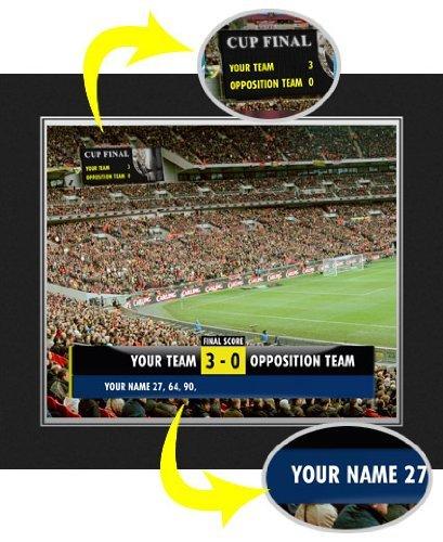 Mk Dons F.C - Personalised Scoreboard Picture (Folder)