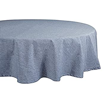 DII Cotton Chambray Pastel Tablecloth for Spring & Summer with a Denim Woven Look, Use for Family Meals or Gatherings, Weddings, Brunch, Catering Events, or Parties (70