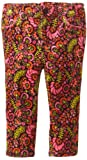 Hartstrings Baby Girls' Printed Floral Stretch Corduroy Pant