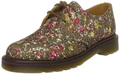 Dr Martens Women's Print 1461 Canvas Fired Taupe Casual Lace Ups 10078230 9 UK