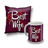 Best Wife Cushion Cover And Coffee Mug Combo