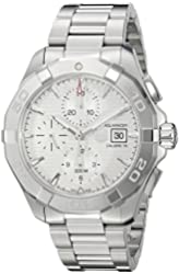TAG Heuer Men's 'Aquaracer' Swiss Automatic Stainless Steel Dress Watch, Color:Silver-Toned (Model: CAY2111.BA0927)