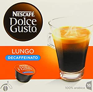 Nescafé Dolce Gusto Lungo Decaffeinated 16 Capsules (Pack of 3, Total 48 Capsules)