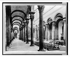 Historic Print (L): Firenze - Chiesa di S. Spirito. Una veduta dell'interno. (Filippo Brunelleschi) / Ed. Al