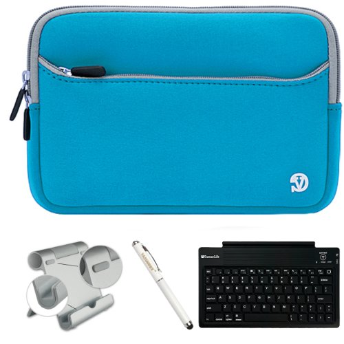 Protective Lightweight Cover Case For Hp Slate 8 Plus Android Tablet + Bluetooth Keyboard + Foldable Stand + Stylus Pen