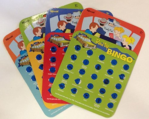 Travel Bingo Cards, Car Road Trip Game, Auto Bingo - Set of 4 Cards (Travel Auto Bingo compare prices)