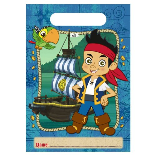 Disney Jake and the Never Land Pirates Treat Bags (8) Party Accessory - 1
