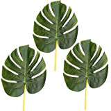 Pack of 3 Artificial 28cm Monstera (Swiss Cheese Plant) Leaves