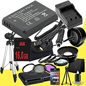 Canon EOS M 18 MP CMOS Mirrorless Digital SLR Camera LP-E12 Lithium Ion Replacement Battery + External Rapid Charger + 16GB SDHC Class 10 Memory Card + 43mm 3 Piece Filter Kit + Full Size Tripod + SDHC Card USB Reader + Memory Card Wallet + Deluxe Starter Kit + 58mm Macro Close Up Kit + Wide Angle / Telephoto Lenses + Mini HDMI Cable Bundle DavisMAX EOS M Accessory Kit for EF-M 22mm f/2 STM Lens