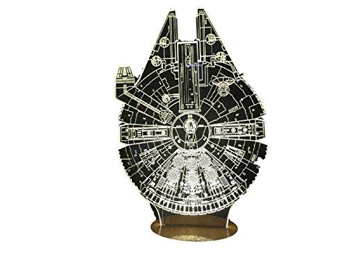 Star Wars Millennium Falcon 3D Light Table Lamp Desk Home Gadgets