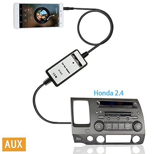 Moonet WEX093 Honda 3.5mm MP3 Aux-in Adapter Audio Input Auxiliary Fits Accord Civic CRV Element Odyssey Pilot Fit S2000 (Honda Accord Bluetooth Kit compare prices)