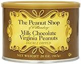 The Peanut Shop of Williamsburg Milk Chocolate Covered Virginia Peanuts, 20-Ounce Tin