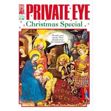 Private Eye' Pack of 12 Luxury Christmas Cards||RF10F