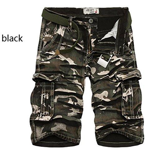 GG Cinque minuti di facile pantaloncini. uomo vita tasca in tuta mimetica , black camouflage , 38