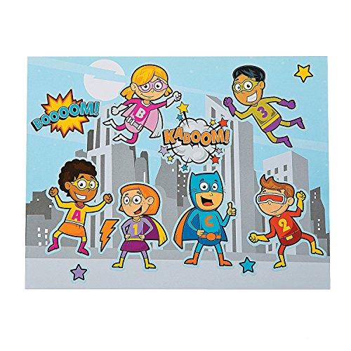 Paper Superhero Sticker Scenes- 12 Pack
