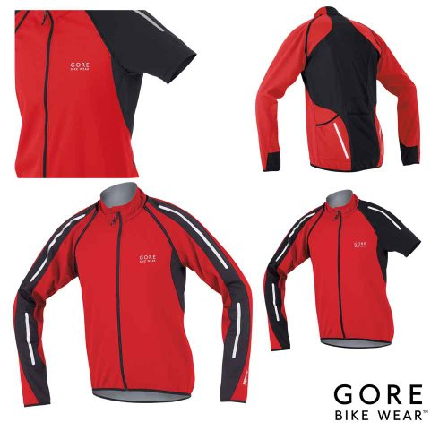 Gore Bike Wear Phantom SO Mens Cycling Jacket Red/Black X-Large