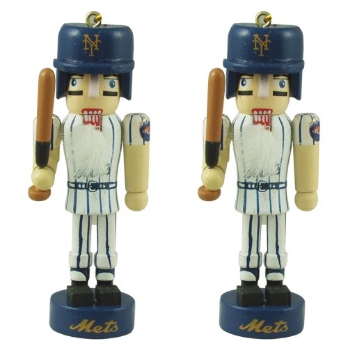 MLB Licensed New York Mets Mini Nutcracker Christmas Ornament Set at Amazon.com