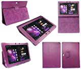 FLASH SUPERSTORE ASUS EEE PAD TRANSFORMER PRIME TF201 TF-201 PREMIUM PU LEATHER MULTIFUNCTIONAL / MULTI ANGLE COVER / STAND / TYPING CASE IN PURPLE