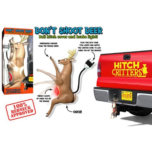 Check Out This Hitch Critters 3591 Don't Shoot Deer Moving Ball Hitch Cover and Brake Light