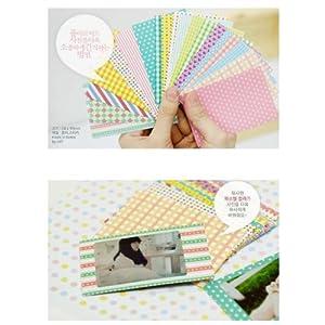20 PCS Pastel Color Instant Films Sticker For FujiFilm Instax Mini 8 7s 25 50s