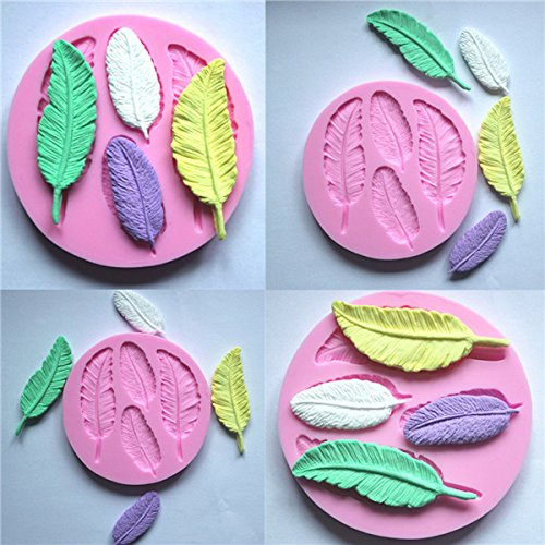 Silicone 3D Feather Fondant Mold Cake Decoration DIY Mold Mould (Crazy Monkey Baking compare prices)