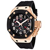 Swiss Legend Mens 10541-RG-01-BB Trimix Diver Collection Chronograph Black Rubber Watch